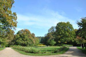 Der Schloßpark der Kurstadt Buckow (Märkische Schweiz) im Sommer