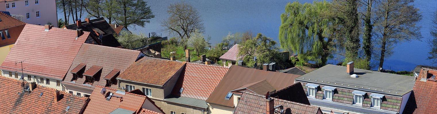 Über den Dächern von Buckow (Märkische Schweiz)