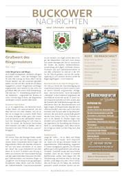 Buckower Nachrichten Mai 2021