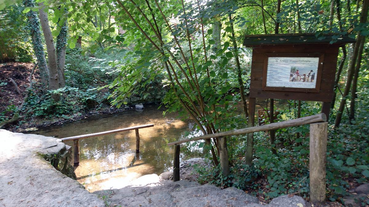 Kneipp Wassertretstelle in Buckow